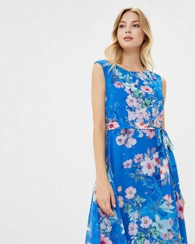 Летнее платье осеннее синее Wallis