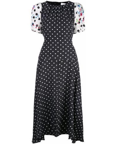 Платье с открытой спиной в горошек Tanya Taylor