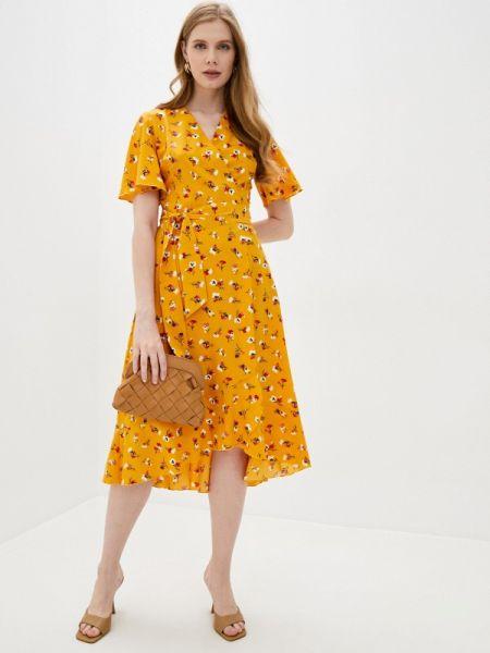 Однобортное желтое платье Doroteya