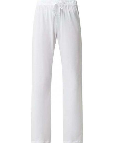 Białe spodnie bawełniane Hanro