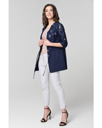 Льняной пиджак - синий Rica Mare