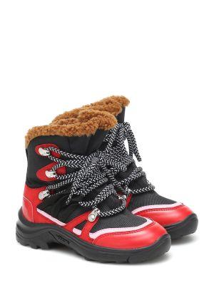 Włókienniczy czarny buty Stella Mccartney Kids