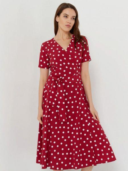 Однобортное бордовое платье A.karina
