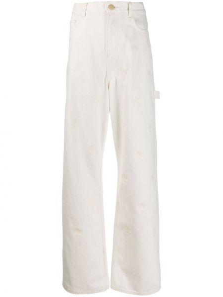 Широкие джинсы с вышивкой на пуговицах Hilfiger Collection
