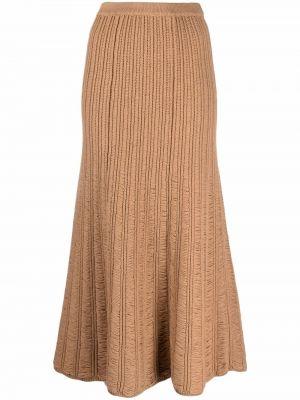 Brązowa spódnica plisowana Gabriela Hearst