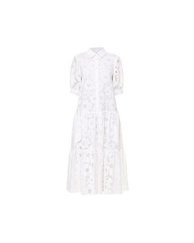 Повседневное белое платье Poustovit