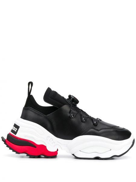 Skórzane sneakersy z logo białe Dsquared2