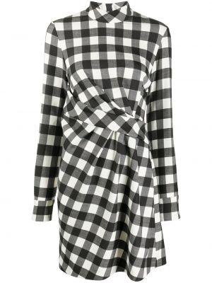 Шерстяное платье макси - черное Msgm