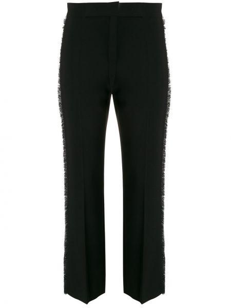 Укороченные брюки черные на молнии Max Mara