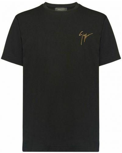 Czarna t-shirt Giuseppe Zanotti