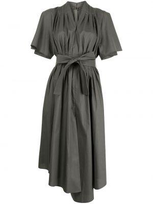Платье мини короткое - зеленое Adam Lippes