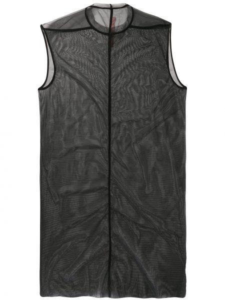 Платье мешковатое черное Rick Owens Lilies