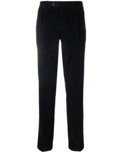 Czarne spodnie sztruksowe Lardini