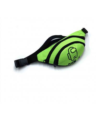 Зеленая текстильная поясная сумка с подкладкой Qq
