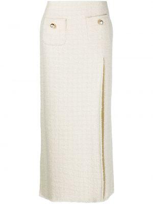 Biała spódnica midi bawełniana Pinko