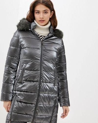 Утепленная серая куртка B.style
