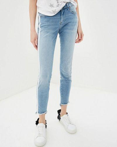 Голубые джинсы-скинни True Religion