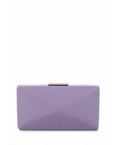 Фиолетовый кожаный клатч Olga Berg