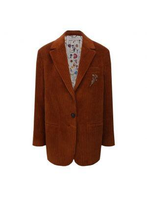 Пиджак на подкладке - коричневый Golden Goose Deluxe Brand