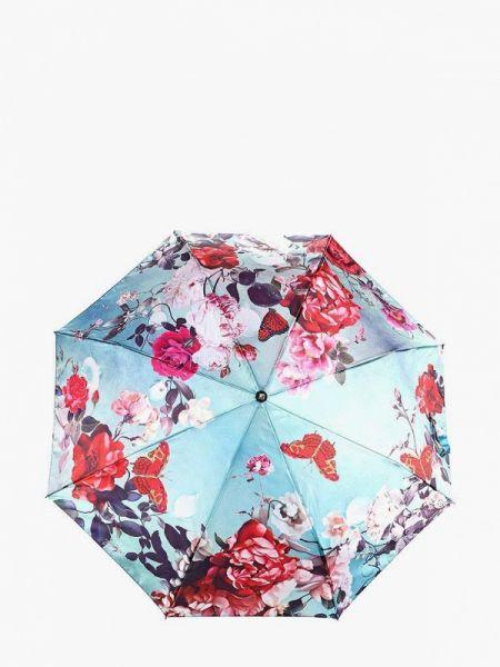 Бирюзовый складной зонт Flioraj