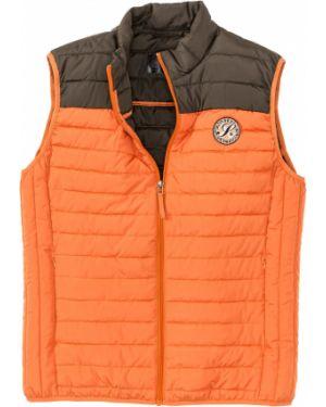 Оранжевая жилетка на молнии Bonprix