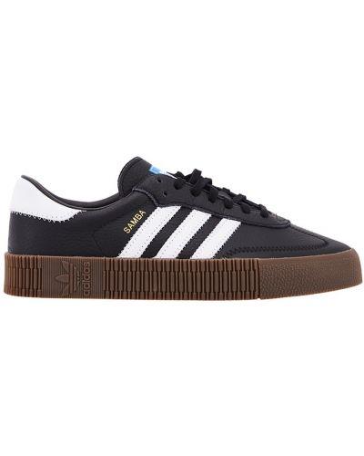 Кожаные кроссовки черные темный Adidas