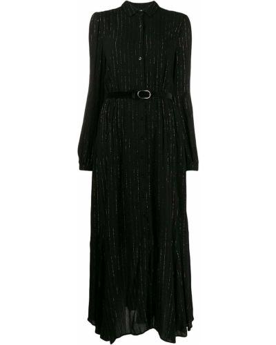 Платье макси в полоску с бахромой Liu Jo