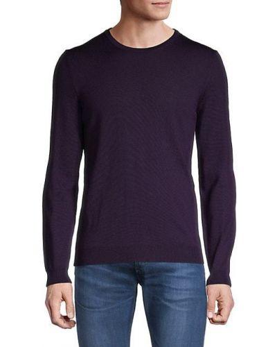 Мягкий сиреневый шерстяной длинный свитер Boss Hugo Boss