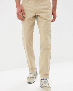 Бежевые брюки повседневные Gap