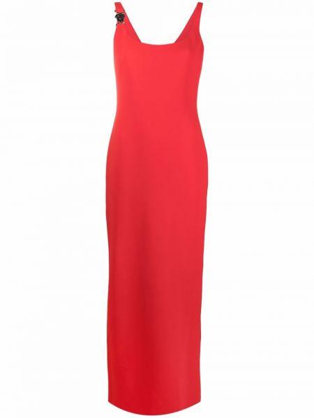 Красное шелковое платье макси Versace Collection