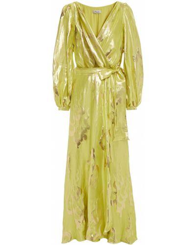Шелковое платье макси с подкладкой на пуговицах Temperley London