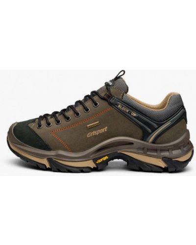 Зеленые ботинки из нубука Grisport
