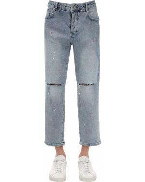Niebieskie jeansy bawełniane perły Other