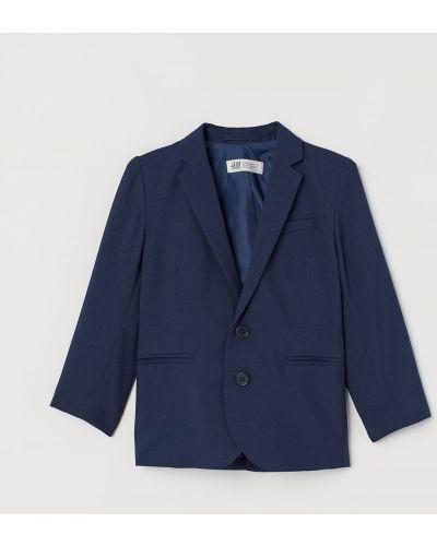 Синий пиджак с карманами с воротником H&m