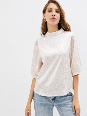 Белая блузка с короткими рукавами Zibi London