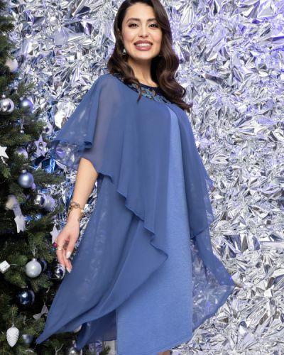Прямое кружевное с рукавами вечернее платье Charutti