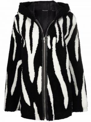 Кожаная куртка с капюшоном - черная Rick Owens