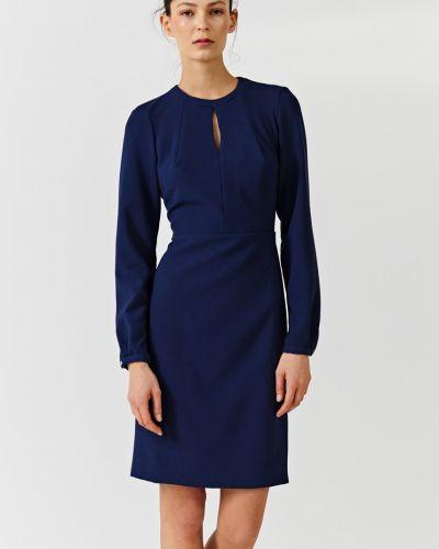 Платье миди однотонное на пуговицах Simple