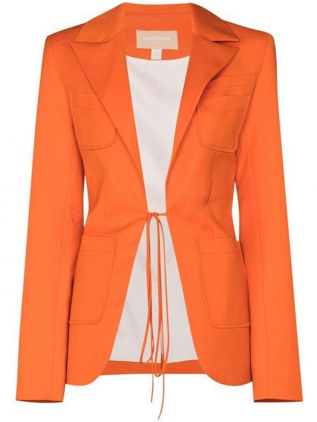 Оранжевый шерстяной пиджак с подкладкой Matériel