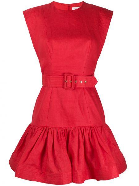 Платье с поясом платье-солнце льняное Zimmermann