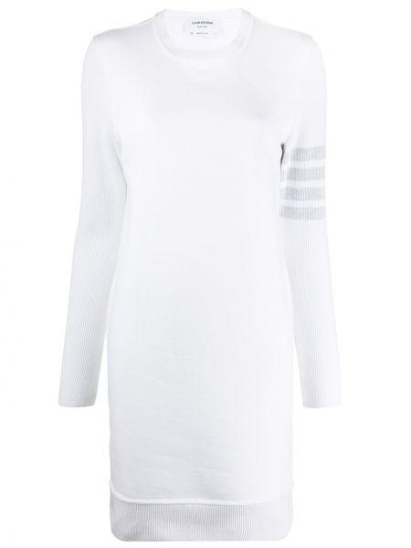 Klasyczna prążkowana sukienka mini z długimi rękawami Thom Browne