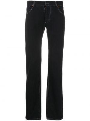 Классические прямые прямые джинсы с жемчугом с карманами Maison Martin Margiela Pre-owned