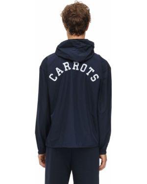 Niebieska kurtka z kapturem z nylonu Carrots