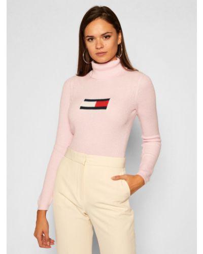 Różowy golf Tommy Jeans