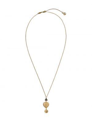 Тонкое ожерелье с жемчугом золотое Dolce & Gabbana