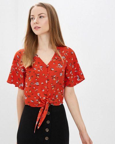 Блузка с коротким рукавом красная весенний Brave Soul