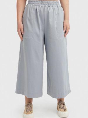 Широкие брюки - голубые Lessismore