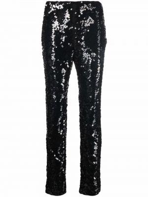 Черные прямые брюки Alberta Ferretti