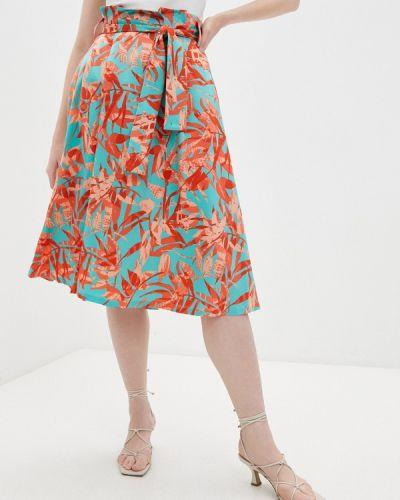 Бирюзовая юбка свободного кроя Marciano Los Angeles