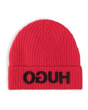 Czerwona czapka wełniana Hugo